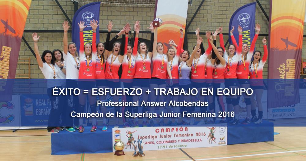 Professional Answer Alcobendas, campeón de La Superliga Junior Femenina 2016