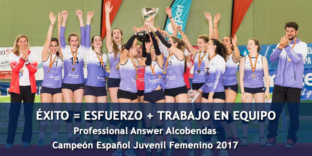 Professional Answer Alcobendas se proclama Campeón de España Juvenil Femenino 2017